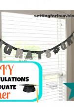 DIY Congratulations Graduate Banner