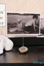 Quick and Easy DIY craft project: Make this adorable photo holder with wire and a rock for a fun DIY decor project! Perfect for your kids room, desk or bookshelf. Use your kid's rock collection or shells from your travels and vacations to display pictures without frames!