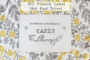 DIY Trivet Potholder For Your Kitchen