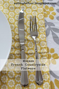 What I Love: Mikasa French Countryside Flatware