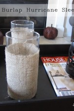 Quick and Easy DIY Burlap Hurricane Sleeve