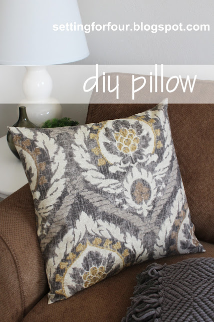 Diy Pillow Cover 5 Minutes To Make Setting For Four