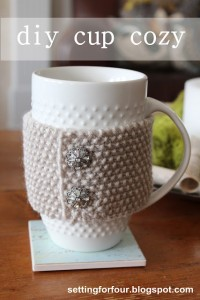 DIY Cup Cozy  –  Knit Mug Cozy Tutorial