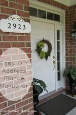 Easy DIY Address Plaque Makeover