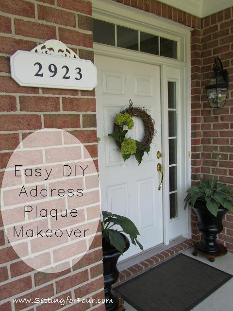 Easy Diy Address Plaque Makeover Setting For Four