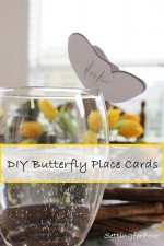DIY Butterfly Place Cards