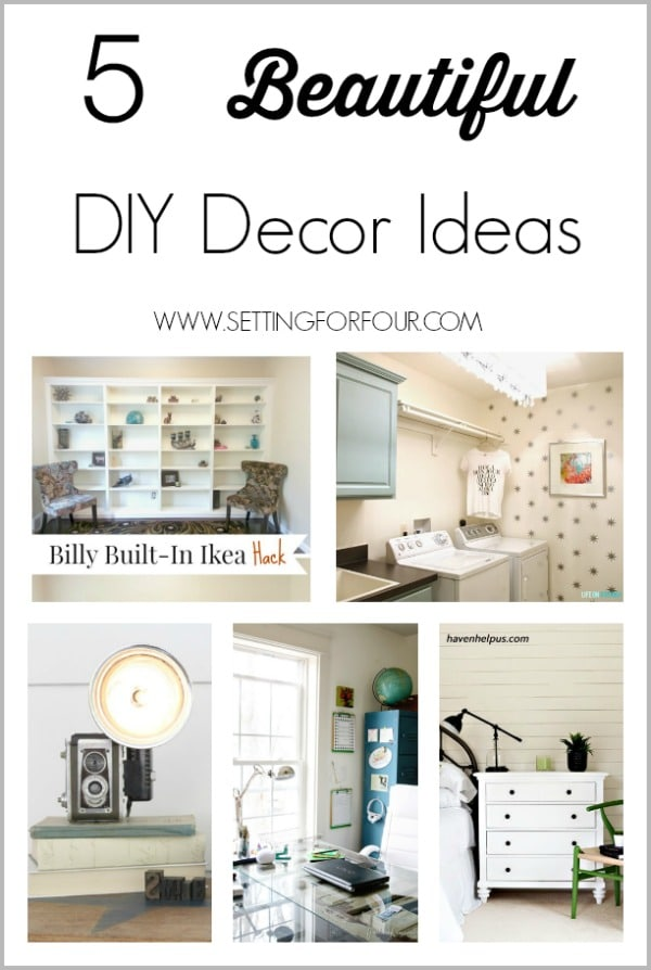 Check out these Beautiful DIY Decor Ideas and inspiration to add gorgeous style to your Bedroom, Laundry Room, Living Room and Office!