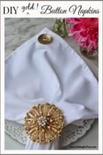 DIY Gold button napkins