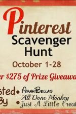 Pinterest Scavenger Hunt Day #19 Clue