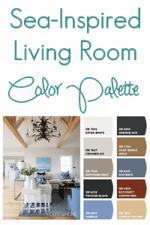 Sea Inspired Living Room Color Palette