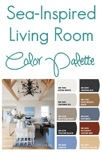Sea Inspired Living Room Color Palette