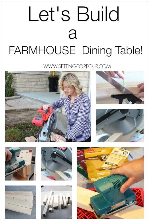 C'mon!! Let's Build a Farmhouse Dining Table! See step-by-step how we did it!