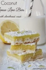 Coconut Lemon-Lime Bars with Shortbread Crust