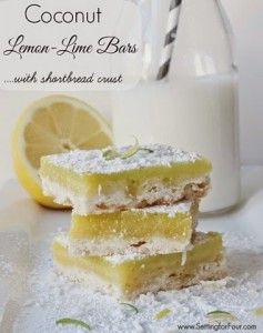 Coconut lemon lime bars