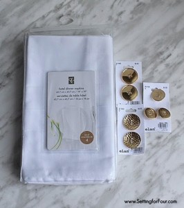 DIY button napkin