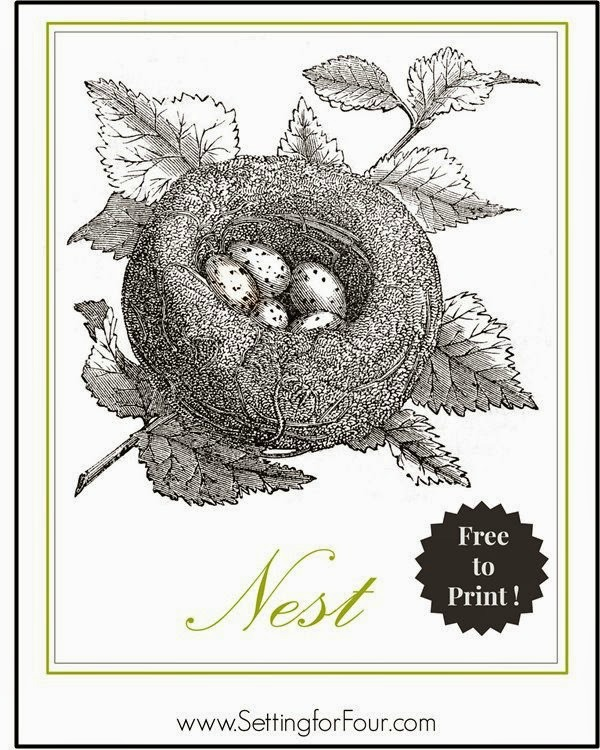 Free Bird's Nest Printable - print and hang for instant decor!