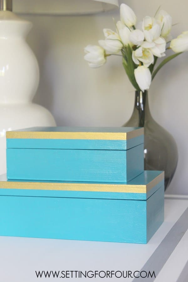 DIY Aqua and Gold Box Set.