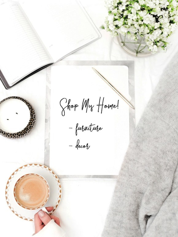 Shop my home - all of my furniture and decor is listed on my Shop Page on my design blog SettingforFour.com