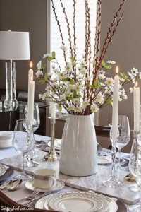 Spring centerpiece and tablescape ideas