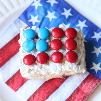 Stars and Stripes Rice Krispie Treats