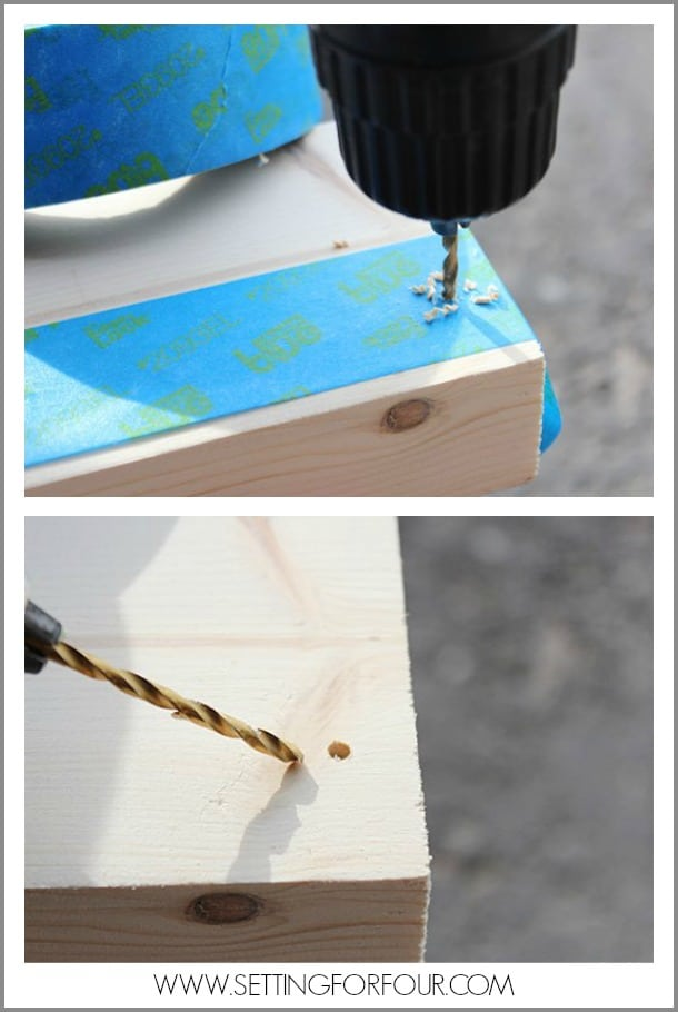 Tip: Before Drilling Place Tape on Wood To Prevent Splinters and Cracks!