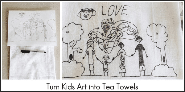 Turn Kids Art into Tea Towels