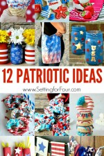 See these 12 FUN Patriotic Ideas to make and bake! Amazing Home Decor, DIY's, Craft projects and Recipes to celebrate patriotic holidays!