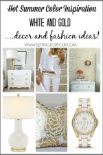 Hot Summer Color Inspiration | White and Gold