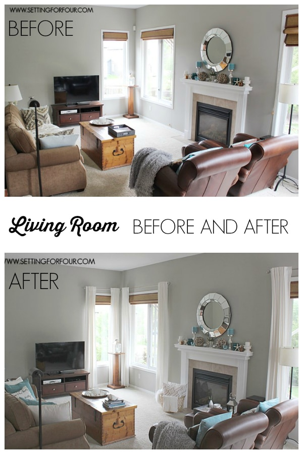my #quickandeasy living room: before & after makeover - setting