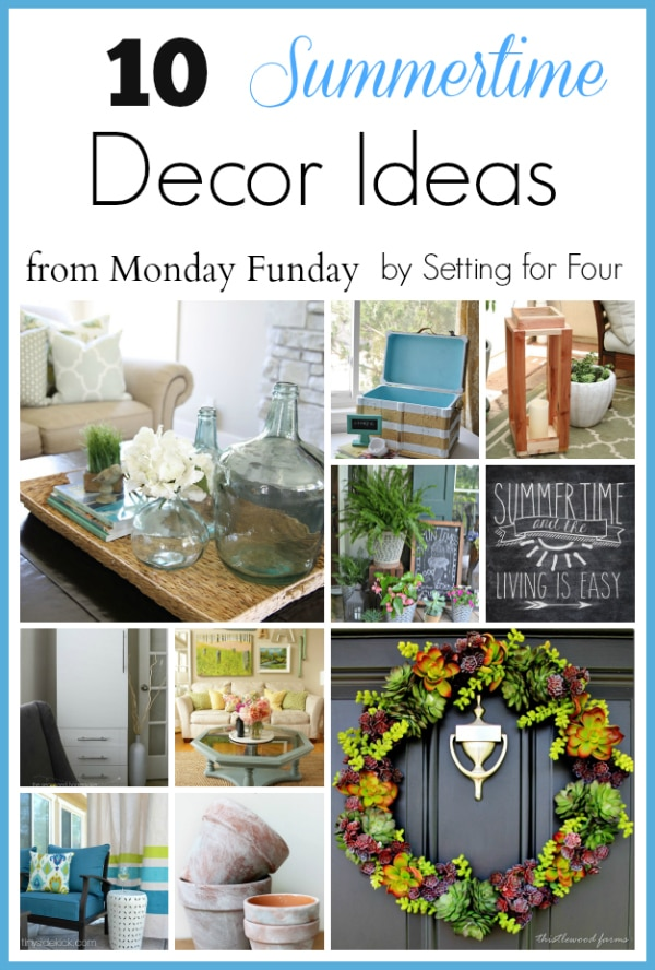 10 Summer Decor Ideas for your home inside and out! www.settingforfour.com