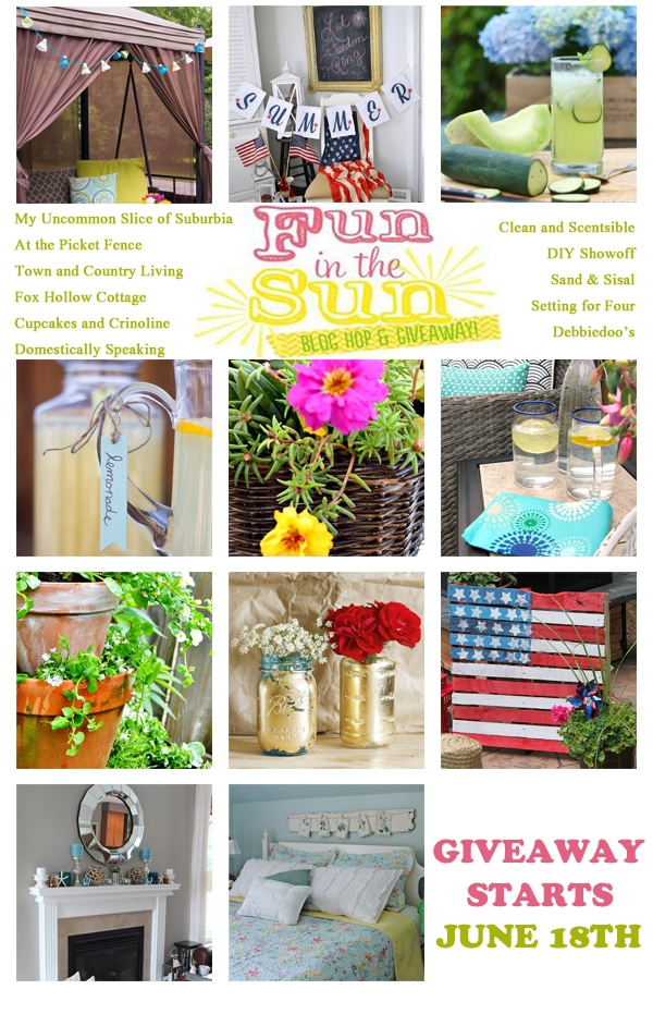 Join the Fun in the Sun Blog Hop to see lots of Summer DIY Inspiration!