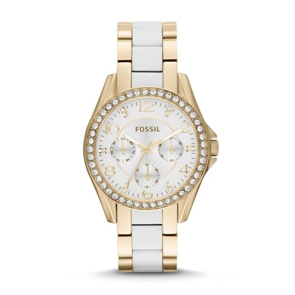 This white and gold watch will show off your tan!