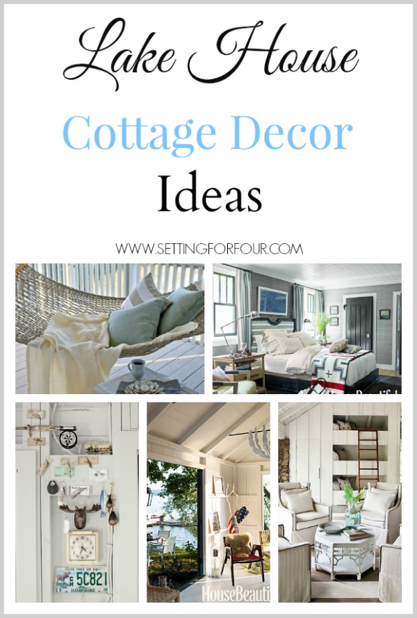 for textiles patterns and color that define lake house cottage decor