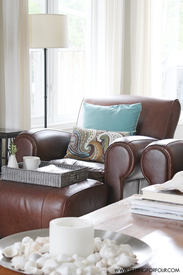 Living Room Makeover with Textiles #QuickandEasy