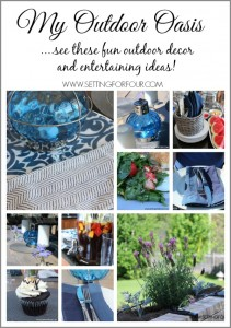 See my fun Outdoor Oasis Decor and Entertaining Ideas! #Pier1OutdoorParty #MC #sp