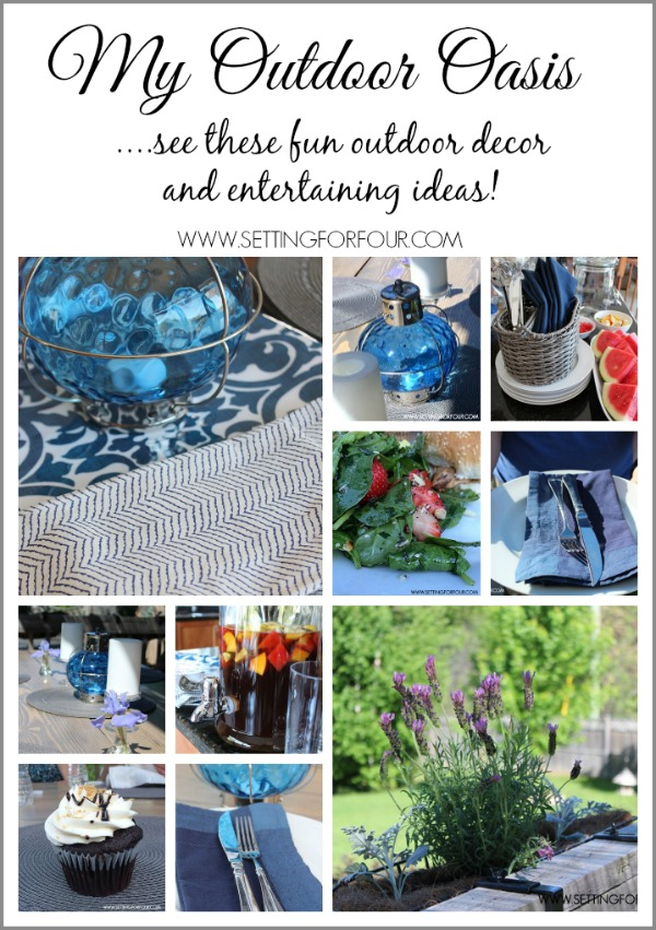See these fun Outdoor Oasis Decor and Entertaining Ideas via SettingForFour.com #Pier1OutdoorParty #MC #sp
