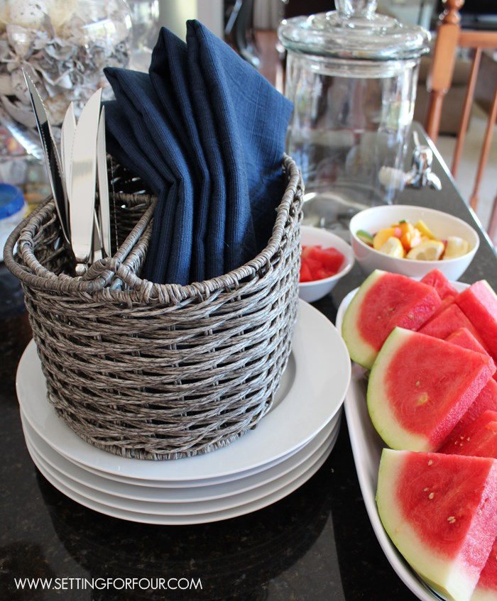 Entertaining Tip # 3 - organize your plates and cutlery before guests arrive. See all 12 Organization and Preparation Tips!