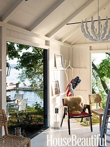 House Beautiful - Lake house cottage decor