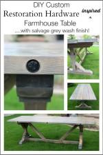 DIY Restoration Hardware Inspired Wood Table