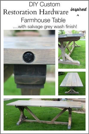 DIY Restoration Hardware Inspired Wood Table