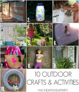 See these 10 FUN outdoor crafts, DIY home decor ideas and activities for the kids!
