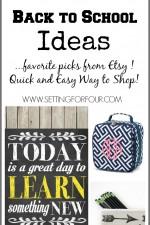 Kids Back to School Ideas – Etsy Favorites
