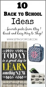 Here are 10 Kids Back to School Favorites from Etsy to help get you and your kiddos prepared for another year of learning and growing: For young kids or older kids and teachers too!