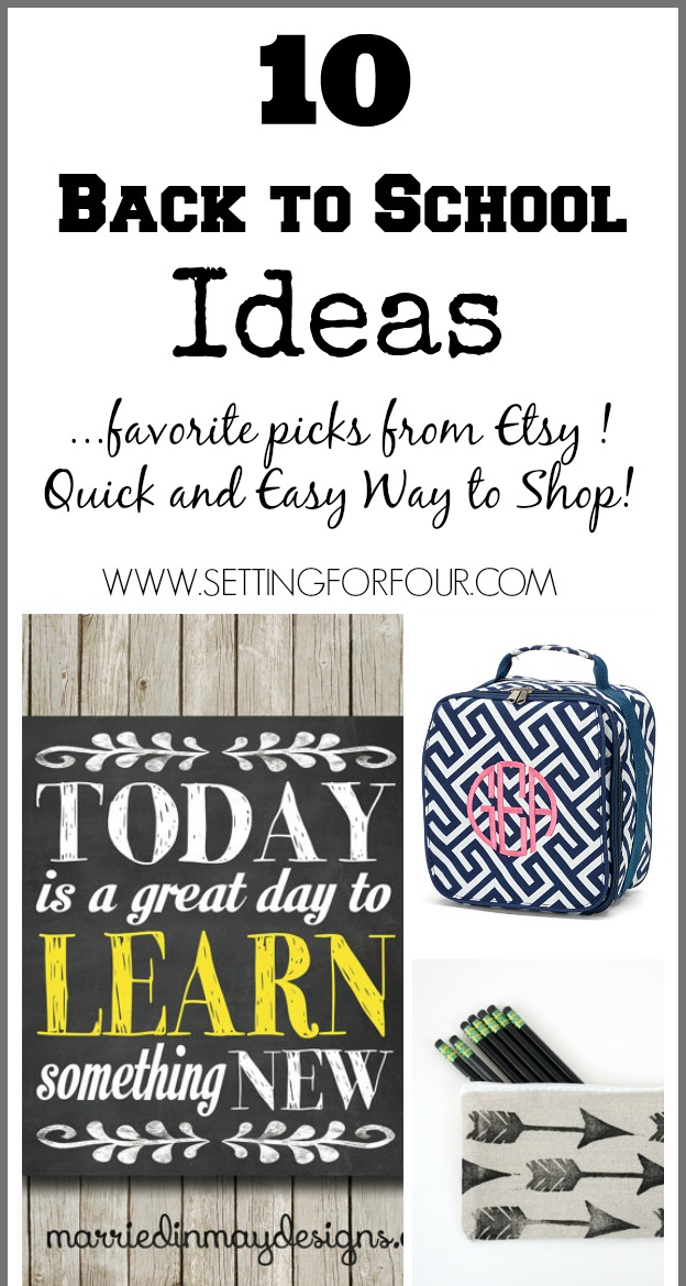 Back to School Etsy Shop favorites.