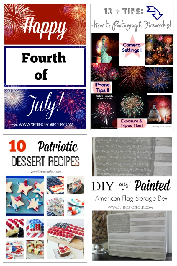Patriotic Fun! How to Photograph Fireworks, a DIY Stars and Stripes Storage box and Patriotic Recipes!