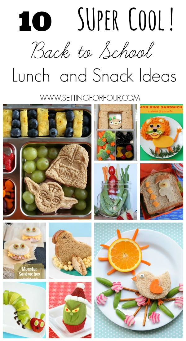 10 Super COOL Kids School Lunch and Snack Ideas - No more boring lunches! See these fun Back To School recipes for Moms.