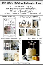 A Backstage Blog Tour of Setting for Four & My Favorite DIY Blogs!