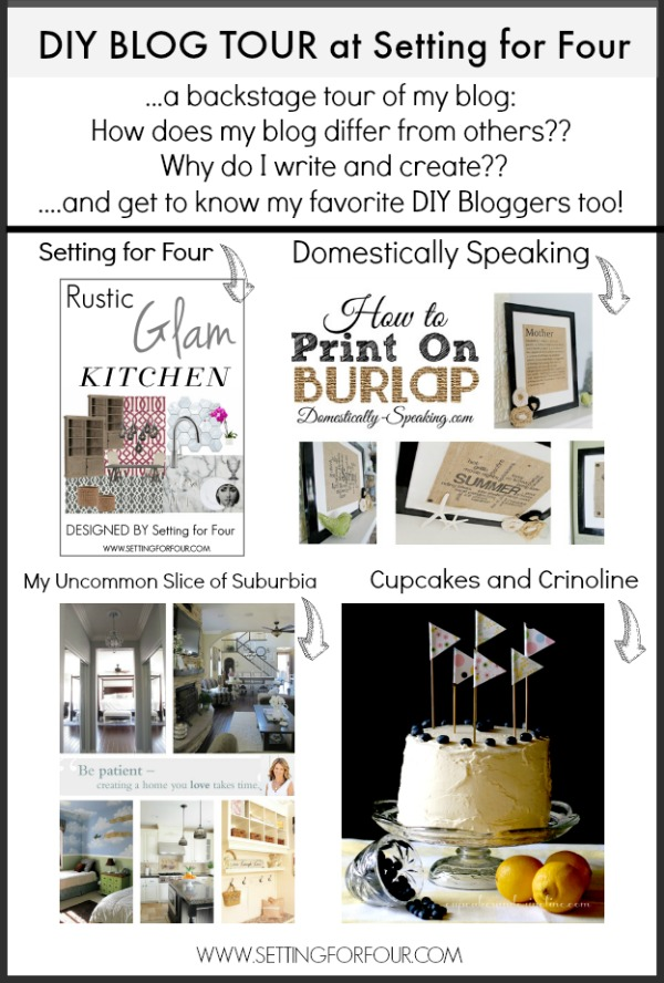 DIY Blog Tour at Setting for Four - see how my blog differs from others, why I blog and more! | www.settingforfour.com