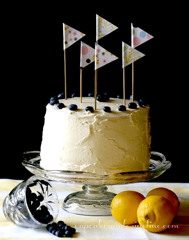 Lemon Blueberry Butter Cakes