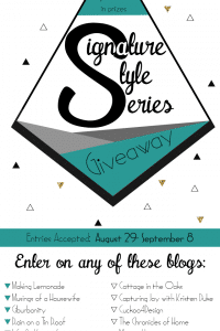 Enter the Signature Styles Giveaway to win luxury pillows, stencils, jewelry! | www.settingforfour.com